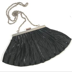 White House Black Market Evening Clutch Bag Black